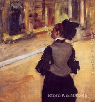art gallery A Visit to the Museum by Edgar Degas oil on canvas Handmade High quality
