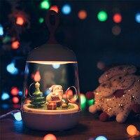 Noël Suspendus Décorations Lumières 1 PC De Noël Micro-paysage Plantes Boîte LED Night Lights USB Rechargeable Lampes