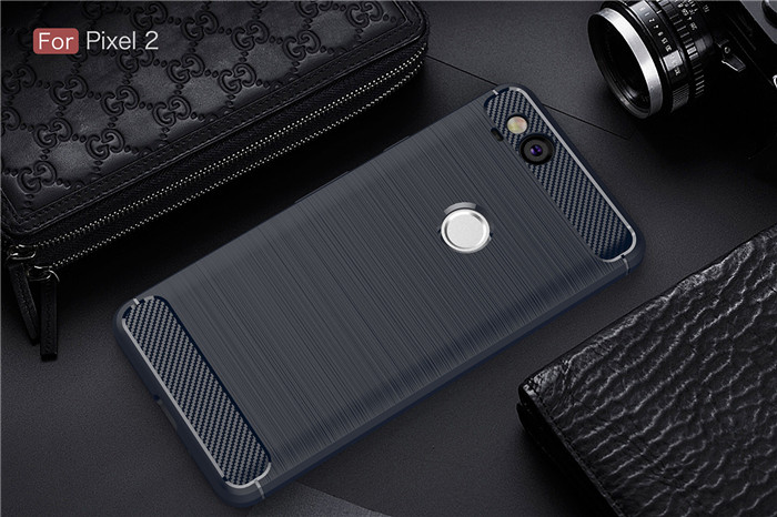 Brushed Carbon Fiber Coque For Google Pixel 2 2XL 3 XL Case Luxury Slim Armor Soft Silicone Phone Back Cover For Pixel 3XL Case