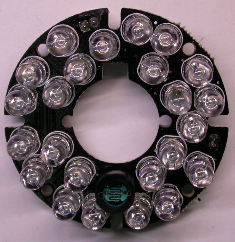 Infrared 24 x 5 IR LED board for CCTV cameras 44mm night vision Bullet Camera