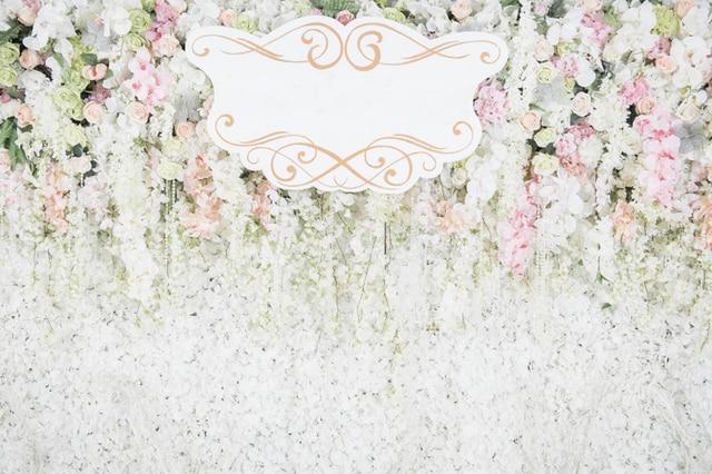 Huayi Dapat Disesuaikan Undangan Pernikahan Bunga Foto Backdground