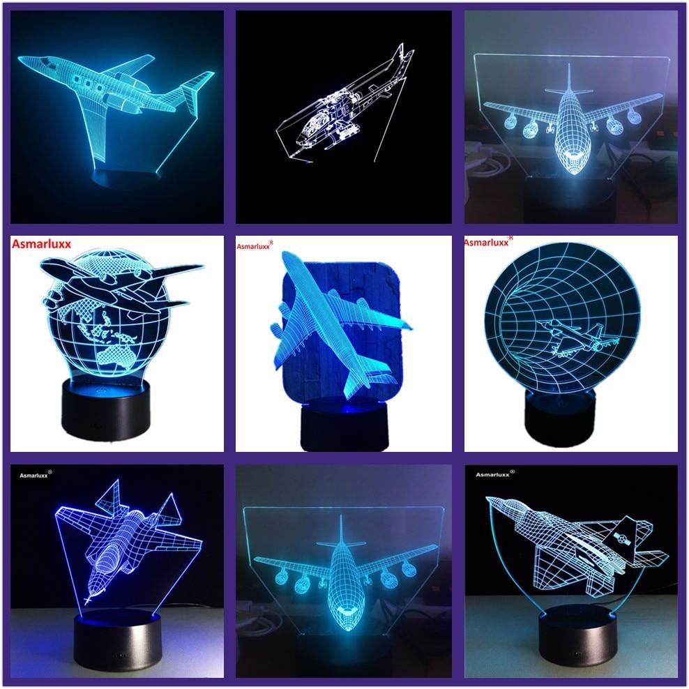 Luzes da Noite lâmpada usb noite luz 7 Formato : Air Plane