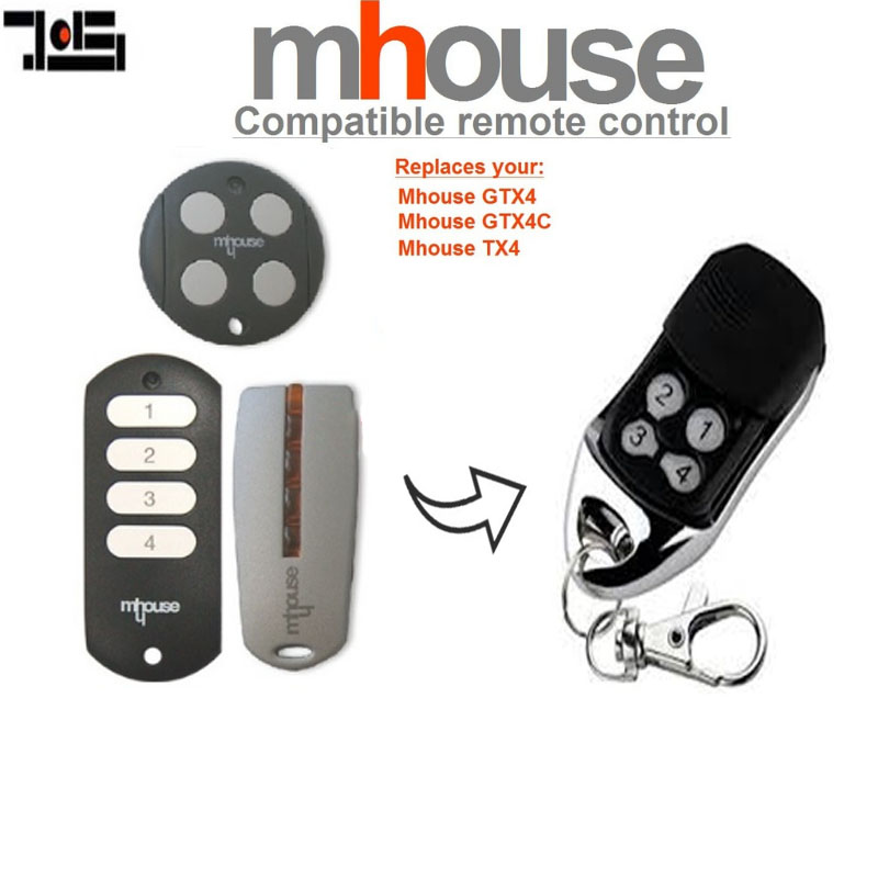 2pcs For MHouse GTX4, GTX4C,TX4 Garage Door Remote Control