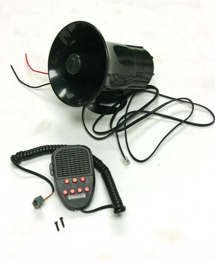 Dragonpad 100W 12V Car Truck Siren Horn Loud Speaker Police Fire + MIC System 7 Sound Tone sirena auto