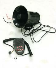 цена на Dragonpad 100W 12V Car Truck Siren Horn Loud Speaker Police Fire + MIC System 7 Sound Tone Car Truck Siren Horn sirena auto