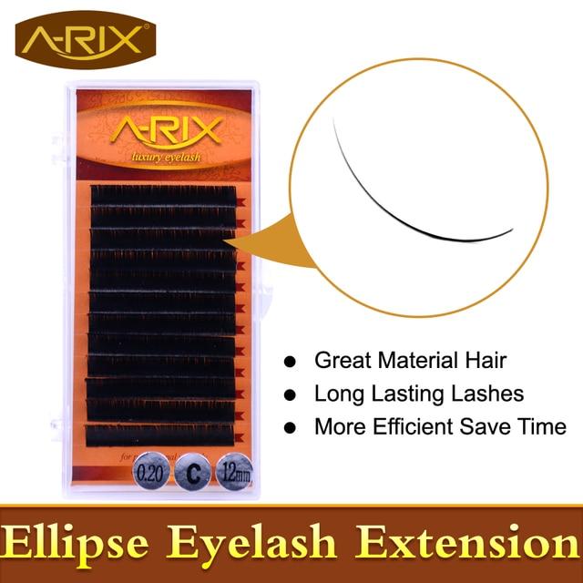 Wholesale 4 packs Ellipse Eyelash Extension All Size 8-15mm length 0.20 thickness 0.07 end False Mink Hair Individual Silk Lash