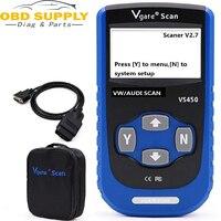 100% Original Vgate VS450 CAN OBDII Scan Automotive Diagnostic Tool For Audi VAG Com for VW Car OBD2 Scanner For Jetta GTI