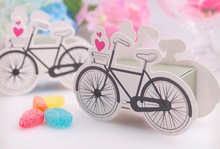 50 Pieces Bicycles birthday Wedding CANDY Boxes favor Gift box cycling fiesta wedding souvenirs Gifts for guests marriage