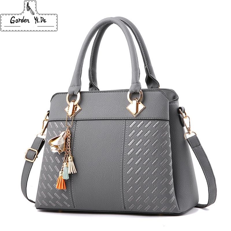 Fashion Tassel PU Leather Totes Bag Women Handbags Top-handle Embroidery Crossbody Bag Shoulder Bag Lady Simple Style Hand BagsFashion Tassel PU Leather Totes Bag Women Handbags Top-handle Embroidery Crossbody Bag Shoulder Bag Lady Simple Style Hand Bags