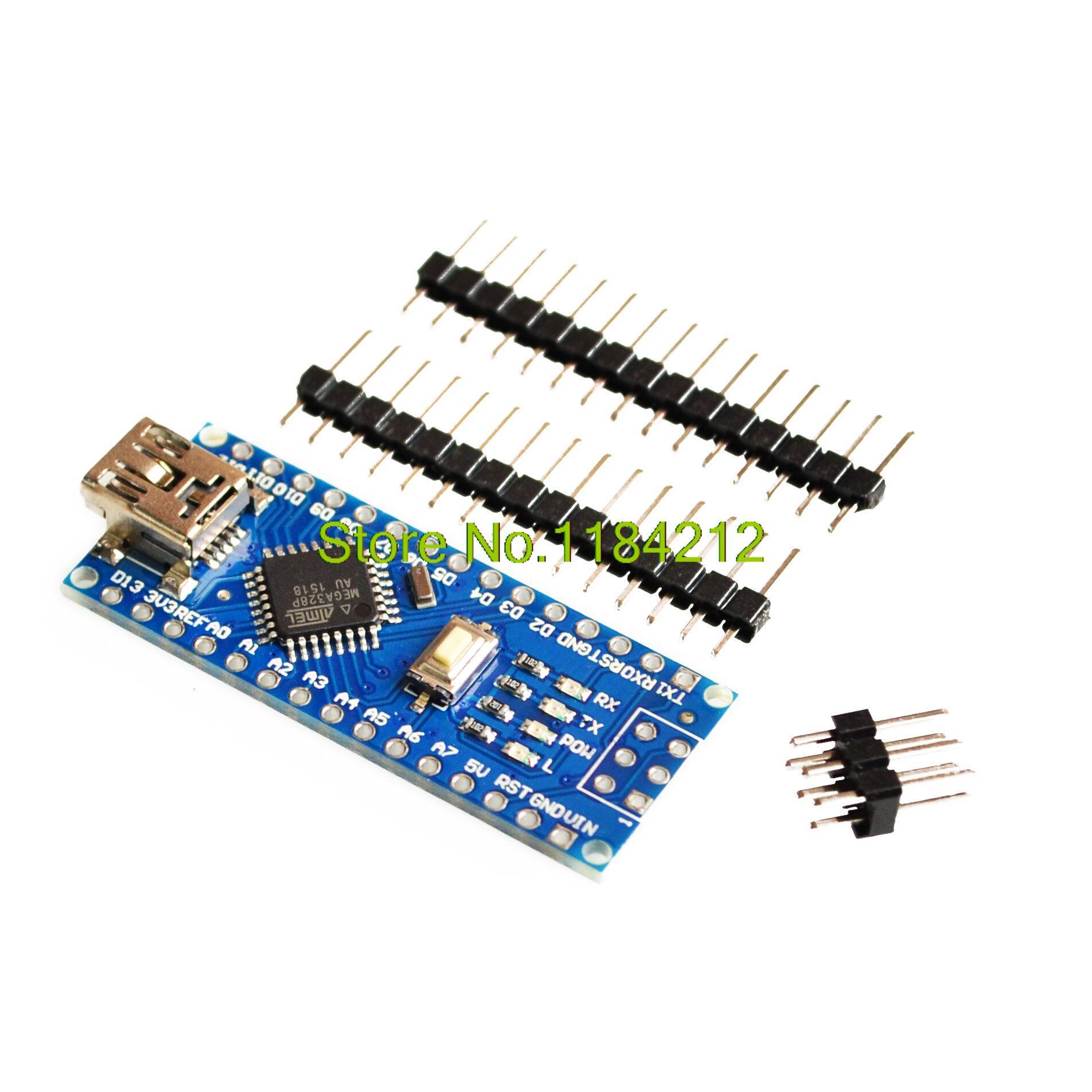 1PCS For Arduino Nano 3.0  Promotion Atmega328 Controller Compatible Board For Arduino Module PCB Development Board Without USB