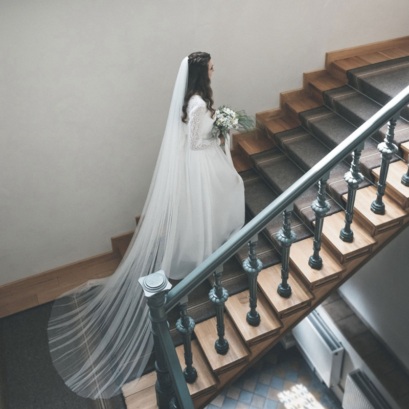 Zachte Engels Netto Sluier 108 Kathedraal Lengte Wedding
