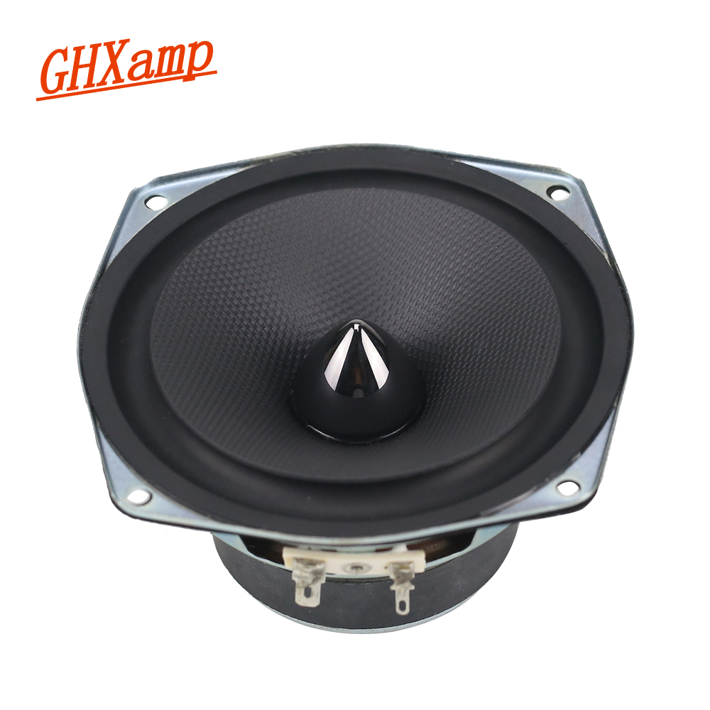 GHXAMP 4.5 INCH 8ohm 30W Woofer Midrange Speaker Bullet Car Loudspeaker Home Theater PC Basin Rubber Speaker 50W DIY ghxamp 6 5 inch full range speaker coaxial horn car speaker unit 8ohm 30w neodymium car audio loudspeaker 2pcs