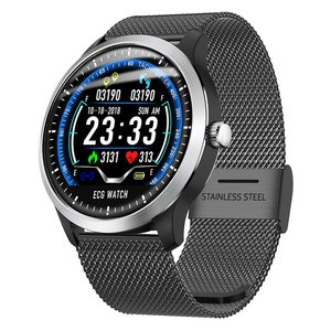 N58 ECG PPG Smart Watch With Electrocardiograph Ecg Display Heart Rate Monitor Blood Pressure Mesh Steel Smartwatch|Lover's Watches| |  -