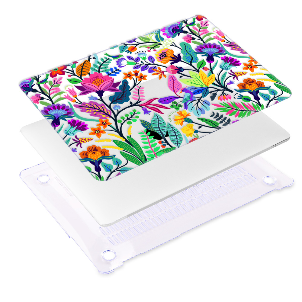 Redlai Colorful Flowers Case for MacBook 36