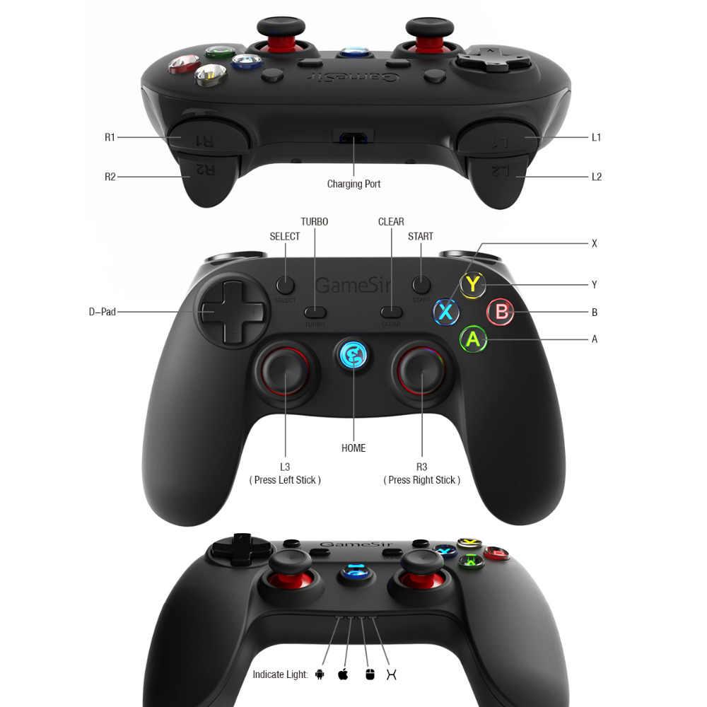 Gamesir G3s Nirkabel Bluetooth Controller 2.4G Joypad Game Joystick untuk Android Smartphone Tablet VR TV Box PS3 PC