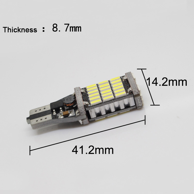 2X Canbus T15 921 W16W 4014 SMD 45LED Auto Backup Light Bil - Billygter - Foto 5