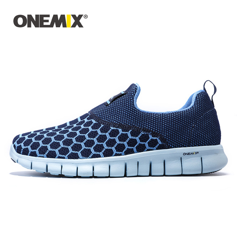 ONEMIX Mens Running Shoes Breathable Outdoor Women Walking Shoes Massage Male Sport Sneakers Lightweight Jogging Sneakers Shoes