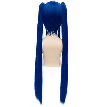 Wendy Marvell Cosplay Wig 2018 Fairy Tail Final Series TV Anime Blue Long Straight Pigtails Synthetic Hair