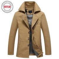 Brand New Men Jacket Spring Autumn 2017 Clothing Navy Khaki Plus Size M 4XL Windbreaker Campera