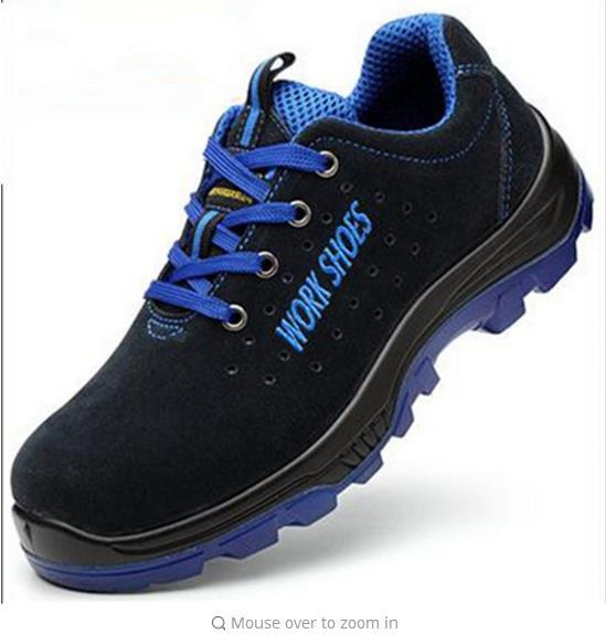 Gli uomini Lavorano Scarpe di Sicurezza Puntale In Acciaio Caldo degli uomini Respirabili di Casual Stivali Puntura di Assicurazione Del Lavoro A Prova di Scarpe di Grandi dimensioni 35---50899