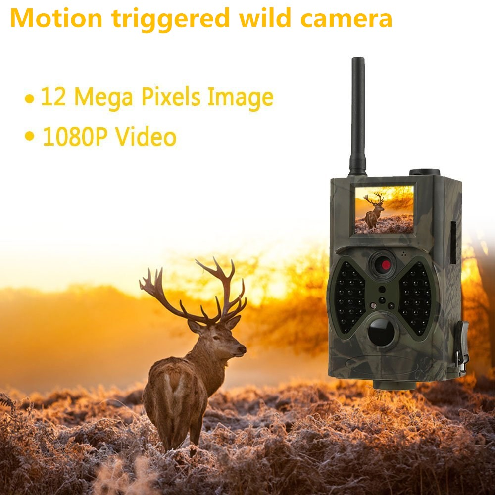 Forest Thermal Hunting Trail Camera GSM Wildlife Digital camera HC300M Photo-Trap wild surveillance Infrared Trap camera hunting футболка hardlunch forest f15 bordo melange m