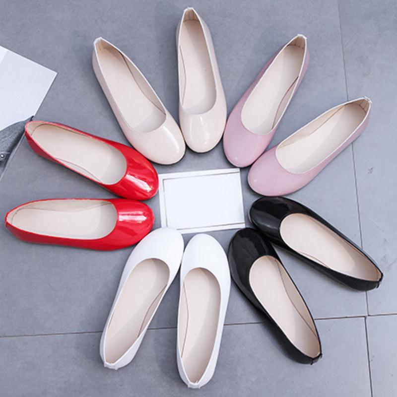 Taille Rond Plat Couleurs Doux Chaussures noir blanc Talon Beige Mode Bout 5 De Couleur Misakinsa Dames rose Sucrerie 36 Femme rouge Appartements 40 SwfqgZ0Fx