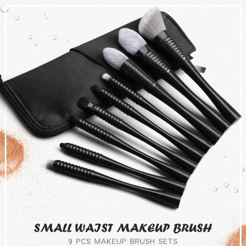 9PCS Makeup Brushes Set Kits Powder Foundation Brush Eyeshadow Tool with Storage Bag