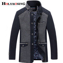 Holyrising men coat winter wool caot erkek kaban Fashion Business Thicken Slim Overcoat Jacket Male Peacoat Brand Clothes 18703(China)