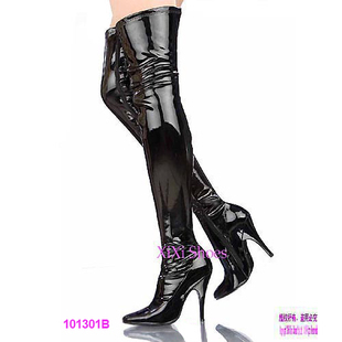 Free Shipping 2013 New Arrival MeiShi Fashion Leopard Winter Thigh Flat Heels Boots,Over The Knee Boots For Women
