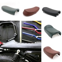 Waterproof CG125 Motorcycle Seat Saddle Retro Cafe Racer Back Seat Cover Cushion Flat/Hump Motor Styling