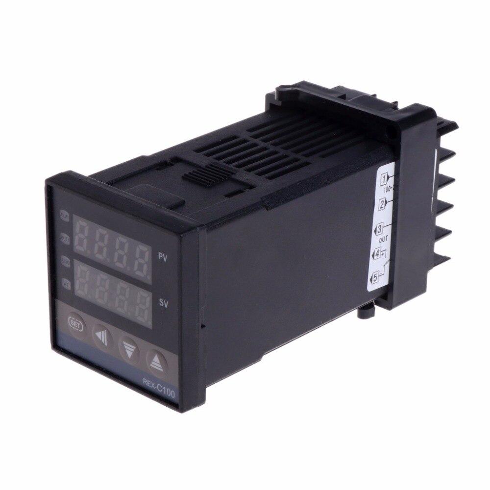PID Digital Temperature Controller REX-C100 0 To 400 Celsius K Type Input SSR Output Tester Tools