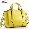 QIAO BAO Korean brand new Genuine leather handbags oil wax fashion wild portable shoulder Messenger Bag