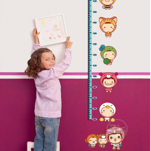 catroon measure height sticker wall stickers for kids rooms growth chart stadiometer ruler AY605