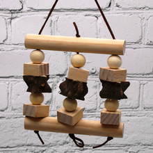 1 pcs parrot supplies bird toy peppercorns bite string wooden hanging swing Parrot toys birdcage accessories Supplies