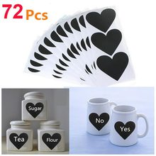 Wootile Heart Vinyl Chalkboard Label Stationery Sticker for Jar Labels kitchen Organizing Stickers Decoration