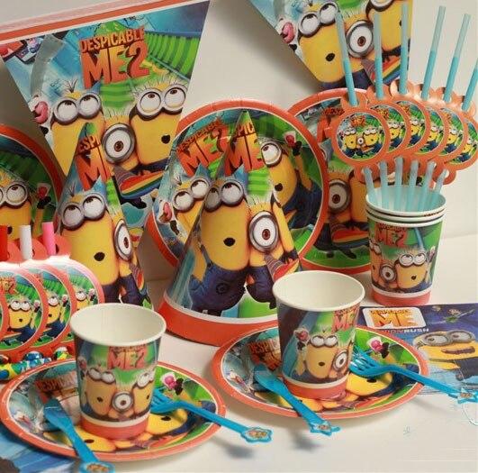 72pcs Kids Birthday Party Decoration Set Despicable Me Theme Paper Cups+Paper Plates+Paper & 72pcs Kids Birthday Party Decoration Set Despicable Me Theme Paper ...