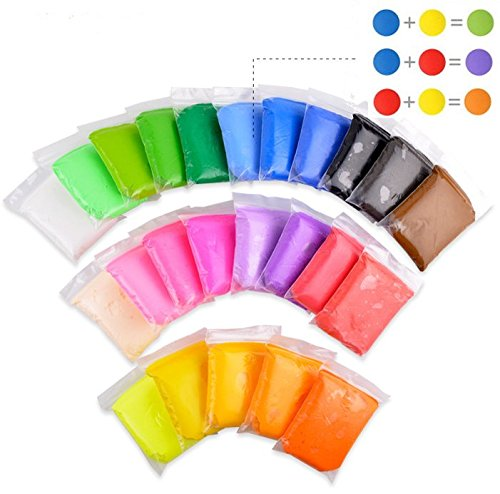 100g/bag Play dough Ultra-light Air Dry clay 100% Non-Toxic slime Polymorph Plasticine Color Mud Children Toys 24 Colors Clay