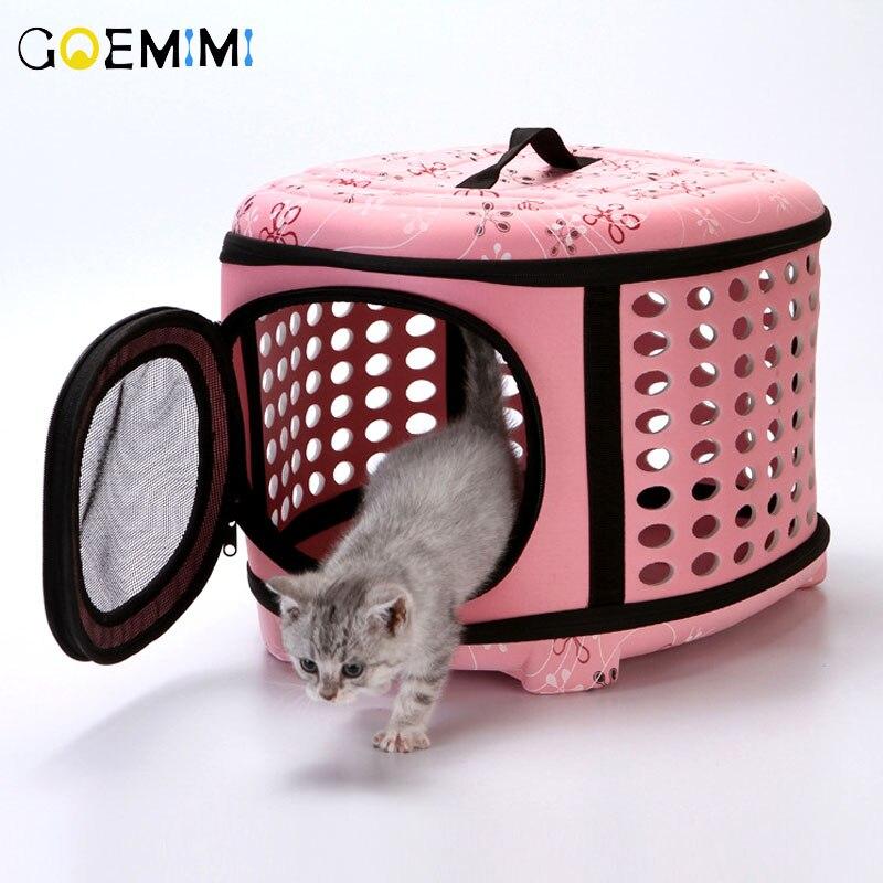 Foldable Eva Pet Carrier Puppy Dog Cat Outdoor Travel Shoulder Bag For Small Pets Soft Kennel