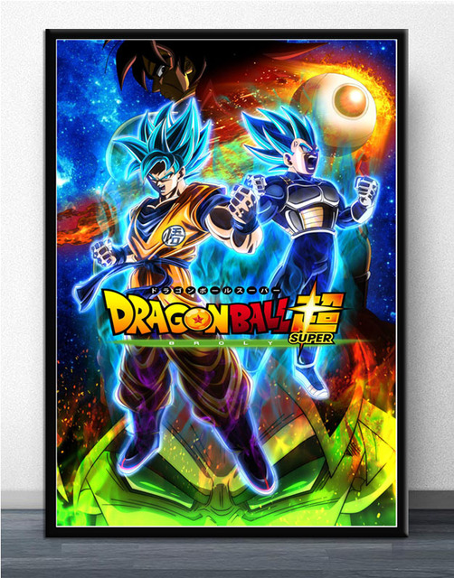 Dragon Ball Super Broly Saiyan Blue Japan Anime Poster Art Silk Canvas Home Room Wall Printing