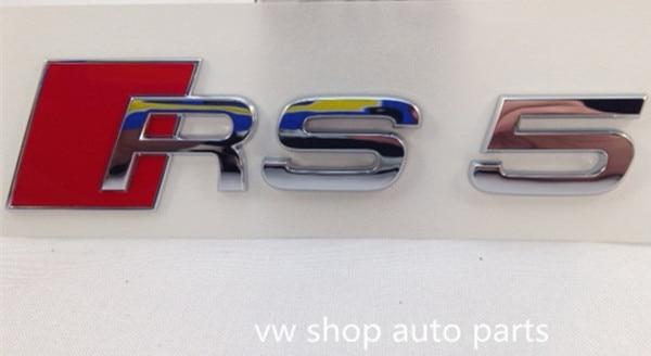 OEM quality For Audi A5 S5 RS5 Chrome S-Line Badge Emblem Rear фары номерного знака candy 5 18 smd audi audi a4 b8 s4 a5 s5 q5 s tt rs