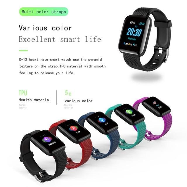 Torntisc Smart Watch Men Women D13 Blood Pressure Oxygen Monitor Sedentary Reminder SmartWatch Fitness Tacker For Apple Android