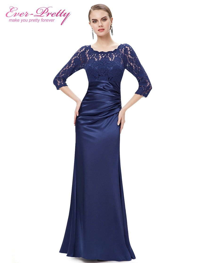 Evening dresses ever pretty he09882 autumn style elegant 3 4 sleeve lace women long formal party