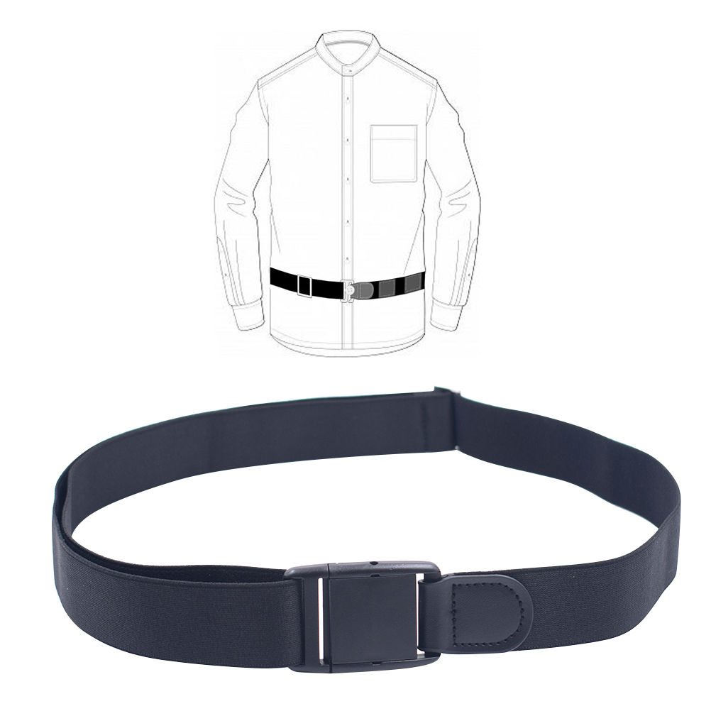 1pcs Shirt Lock Belt Stay Adjustable Shirt Lock Undergarment Belt for Men and Women Keeping Shirt Tucked In - 3CM