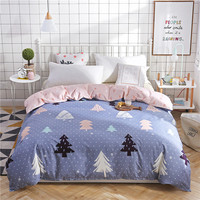 Nordic Style Duvet Cover Forest Printing 100% Cotton Quilt Cover Single Double Comforter Cover Twin Full Queen King Bed Cover