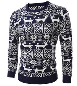 Image 5 - Deer Christmas Sweaters for Man O Neck Casual Pullover Male Sweater Men Jumper Mens Knitwear Sueter Slim Top Winter Sweters