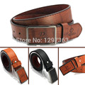 Wholesale Price 2016 New Fashion Design Men's Belt PU & Cowskin Leather Classic Stylish Buckle Belts for men,Drop Shipping! Q51
