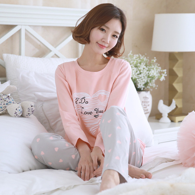 14da8b2485521 Autumn Winter pregnant young mother women maternity pajamas home nursing  sleepwear cotton maternity clothes nursing pajamas suit