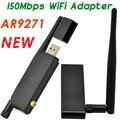 AR9271 Беспроводной 150 Мбит/С Высоким коэффициентом Усиления USB WiFi Адаптер SMA 4dBi Внешняя Антенна Для Smart TV Альтернативой TP-LINK TL-WN722N