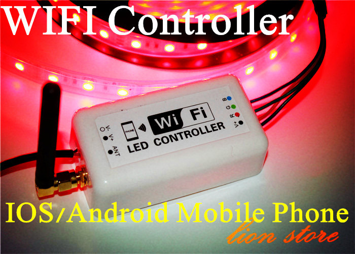2015 WIFI RGB LED Controller for Iphone,Ipad,IOS/Android Mobile Phone Wireless RF Dim CE DC12V 24V for 3528 5050 LED Strip light original gm60a portable mimi led video projector with wifi micacast airply for iphone ipad samsung android mobile phone pc
