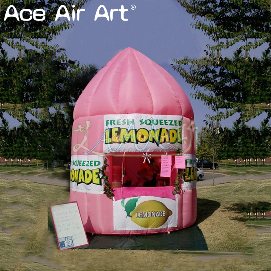 Customized inflatable lemon sale stand booth,juice stall,lemonade concession booth/cold drink sale station kiosk
